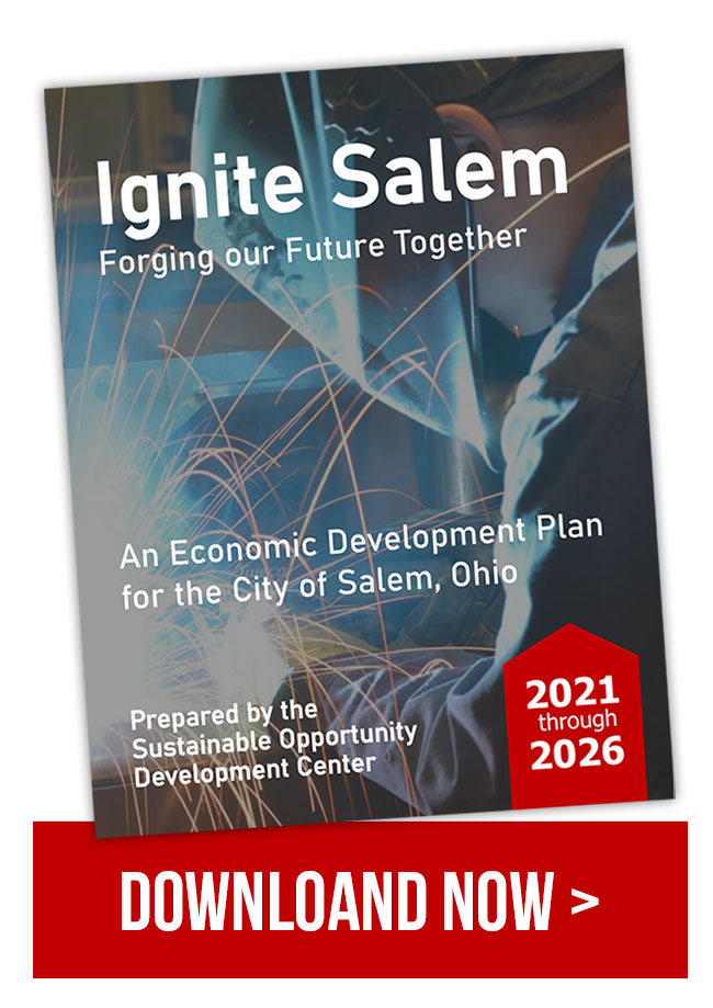 2021 - 2026 City of Salem Ohio Economic Development Plan cover